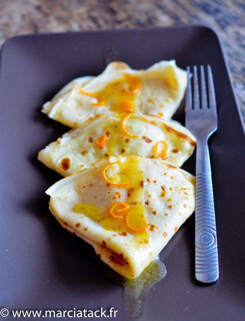 recette facile des crepes suzettes, beurre et grand marnier