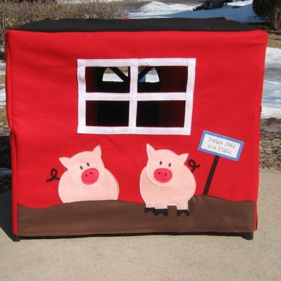 Our Family Farm Card Table Playhouse von missprettypretty auf Etsy