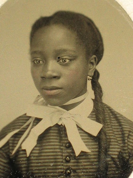 Civil War era Tintype African American Young Woman: