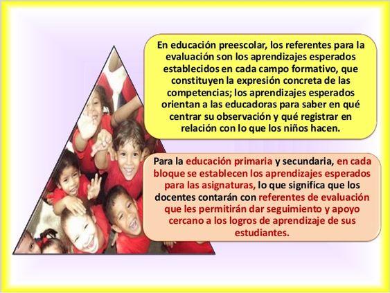 En educación preescolar, los referentes para la evaluación son los aprendizajes esperados establecidos en cada campo forma...