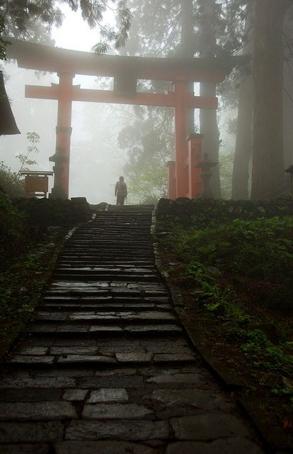 Mt. Haguro, Yamagata, Japan ... you have to climb to find the portal here.