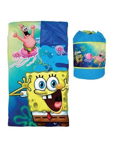 """Includes Favorite Spongebob Characters - Nickelodeon Spongebob Slumber Duffle by Idea Nuova - LA. $95.63. Duffle bag includes straps so your child can easily throw over his shoulder and carry everywhere. Sleeping bag measures 57"""" x 60"""". Includes plush spongebob sleeping bag and carrying case. Includes favorite spongebob characters. Nickelodeon Spongebob Slumber DuffleYour child will be ready for adventure whether they are napping or playing with this fun spongebob s..."""