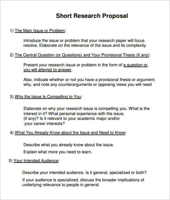 Research Proposal     Document Forms