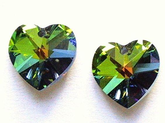 Swarovski  Heart Crystal Pendant Beads Art 6202 by waltersbeads, $6.95