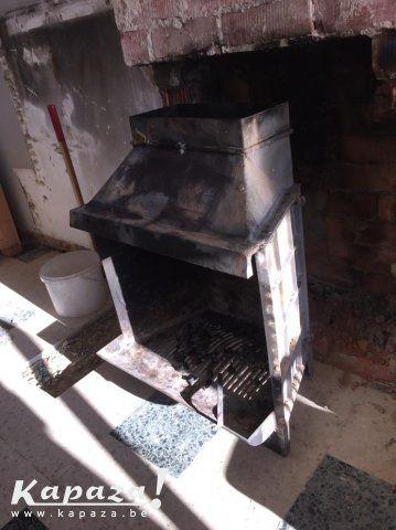 Flam openhaard in gietijzer voor binnen of buiten, Overige kunst en antiek…