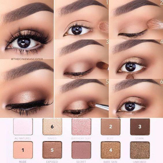 maquillaje natural para ojos