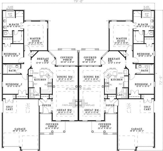 Haldimann classic duplex to be other and home for Multi family house plans