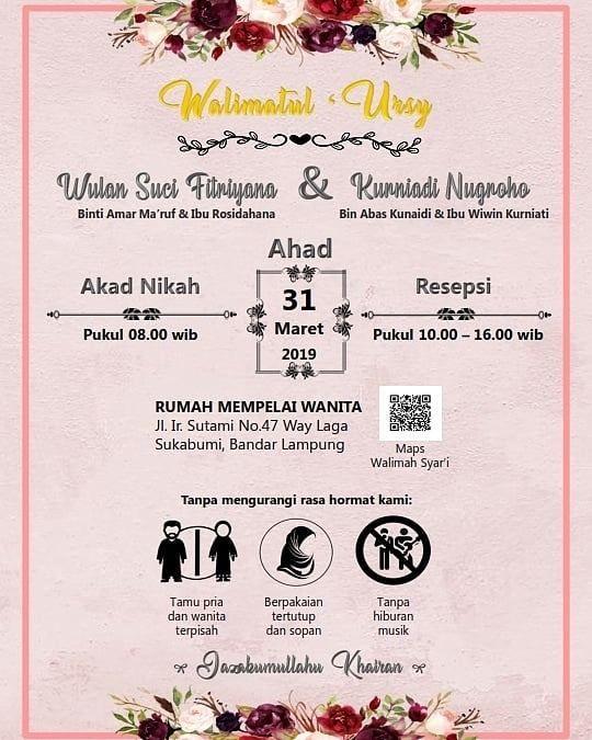 Kata Kata Undangan Pernikahan Islami dan Kata Mutiara