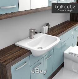 fitted bathroom furniture blue - Google Search