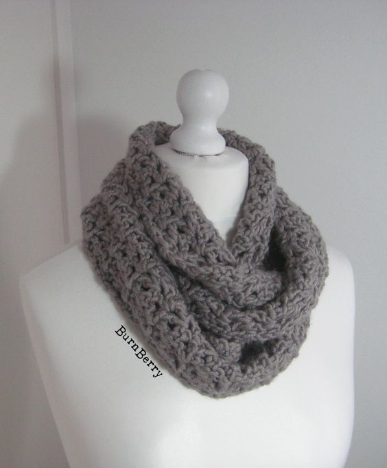 Free Crochet Pattern Pavement Infinity Scarf : My first crochet project, this is the Pavement Infinity ...