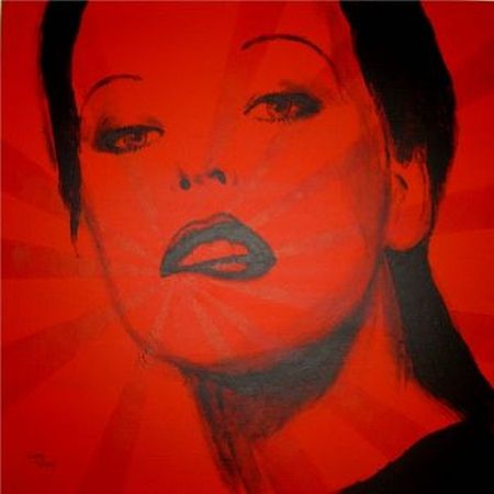 Red Contemporary Paintings | Red Milla Original Canvas Wall Paintings For Sale Greg McDonald Art