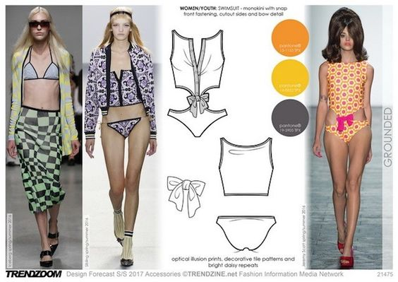 S/S2017 women's swimwear trends - contemporary mood: Grounded