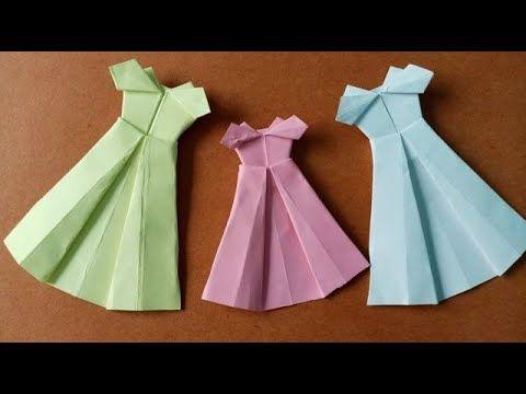 How Do You Make A Paper Barbie Dress كيف تصنع فستان العروس بالورق Barbie Dress Summer Dresses Barbie