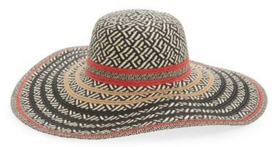 Geometric Patterned Floppy Hat