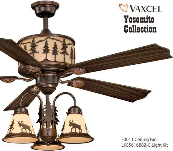 Vaxcel F0011 Yosemite Ceiling Fan Rustic Ceiling Fans Deep Discount Lighting Ceiling Fan Rustic Ceiling Fan Ceiling