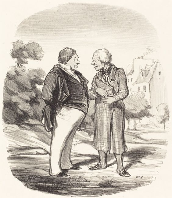 Actionnaires Californiens | Honoré Daumier, Actionnaires Californiens (1850)