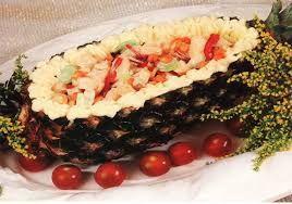 Salada tropical de abacaxi