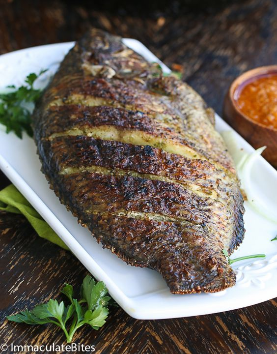 Grilled tilapia, Fresh basil and Style on Pinterest