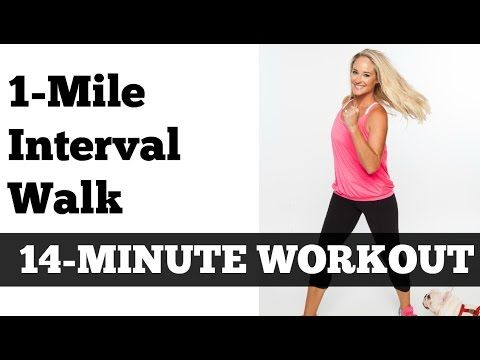 1 Mile Fast Interval Walk   Low Impact Indoor Power Walking Jogging Workout - YouTube