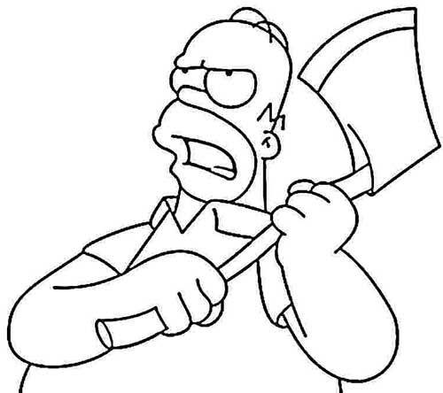 49 Desenhos De Os Simpsons Para Pintar Colorir In 2020 Cartoon