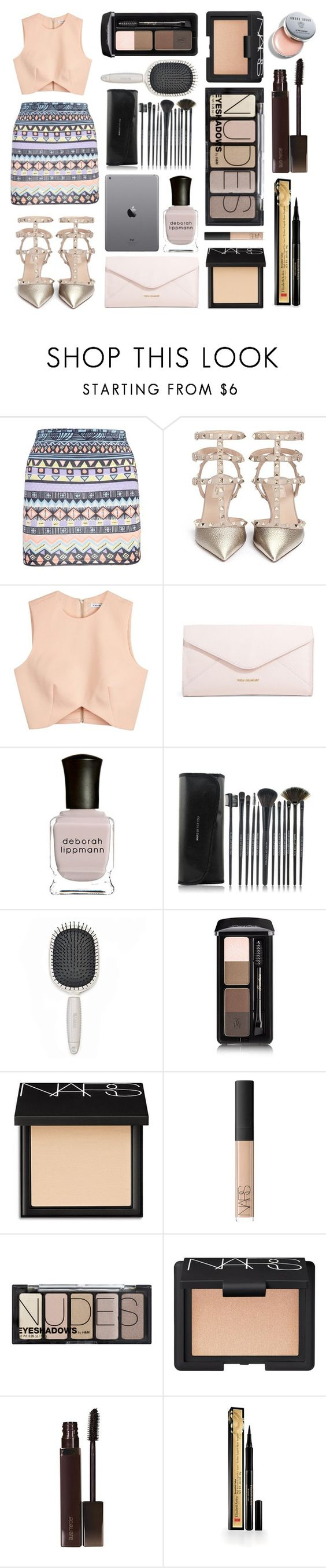 """Untitled #13"" by missbaovang ❤ liked on Polyvore featuring Boohoo, Valentino, Finders Keepers, Vera Bradley, Deborah Lippmann, Earth Therapeutics, Guerlain, NARS Cosmetics, H&M and Laura Mercier"