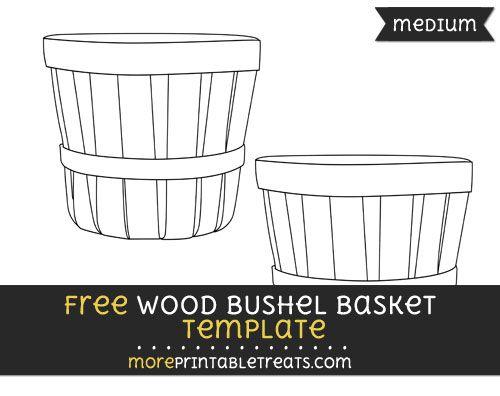 Free Wood Bushel Basket Template Medium Bushel Baskets Bushel