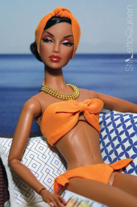 Bronze Barbie soakin' up the rays!  #Barbie #familycruise #cruise
