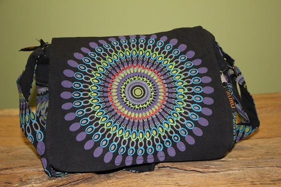 Tasche Mandala Blau aus 100% Baumwolle, ist ein echter Eyecatcher