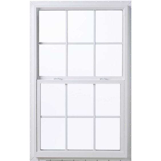 ThermaStar by Pella Vinyl Double Pane Annealed Single Hung Window (Rough…