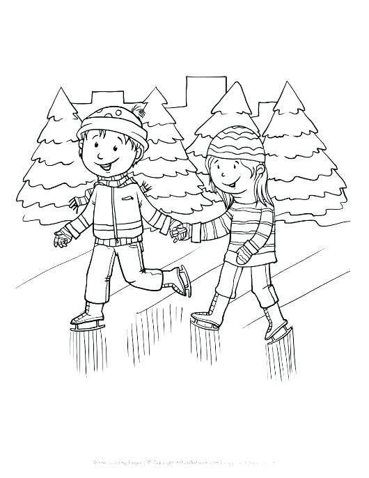 Girl Ice Skating Coloring Page Coloring Pages Dog Coloring Page