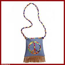 HIPPIE HANDTASCHE 70er Jahre Flower Power Peace Tasche Kostüm Party Zubehör 9566