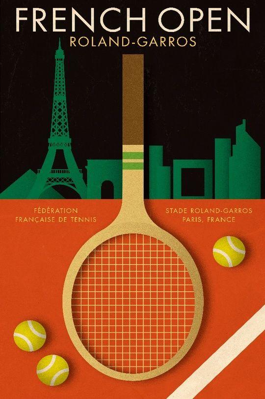 French Open Tennis Championships An Art Print By Ed Simkins Tennis Posters French Open Tennis Tennis Art