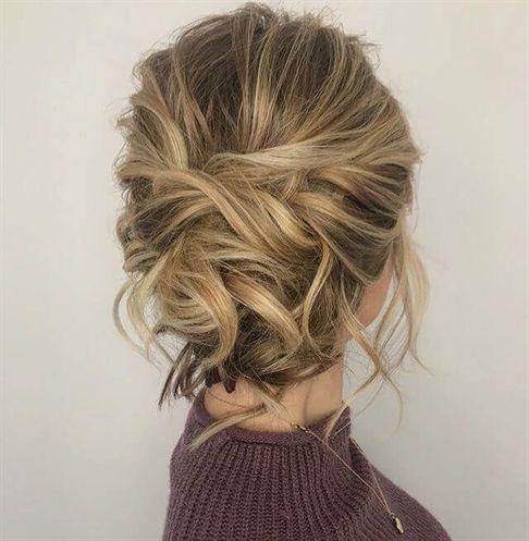 50 Chic Messy Bun Hairstyles Updos For Medium Length Hair Hair Styles Easy Updo Hairstyles