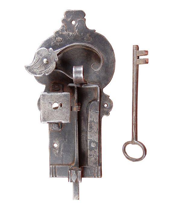 Wrought iron doors door latches and iron doors on pinterest for 18th key of the door