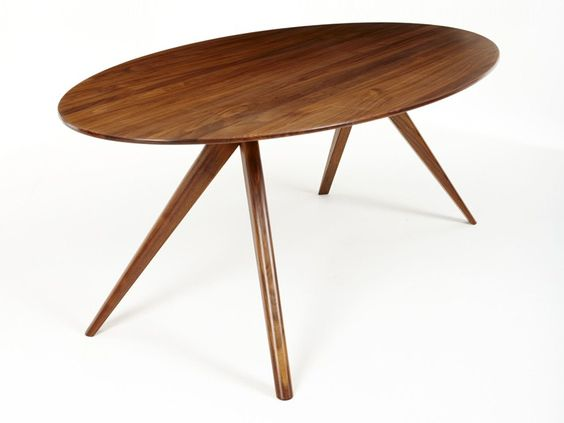 Oval walnut dining table OSKAR by Dare Studio | design Sean Dare