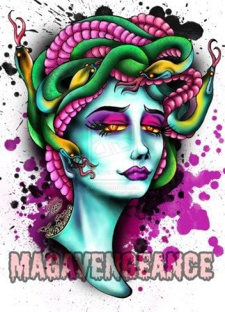 New Medusa Tattoo Design