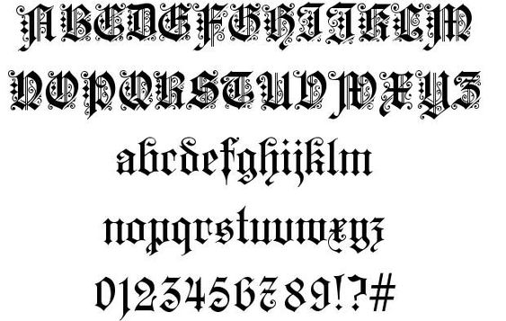 Kaiserzeit Gotisch schriftart