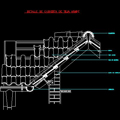 Roof Detail Arabian Tile dwgAutocad Drawing CAD