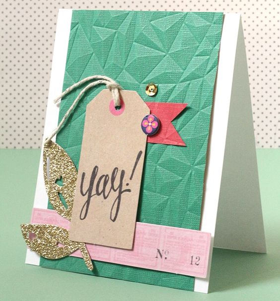 Hip-Hip, Yay! Embossed Card
