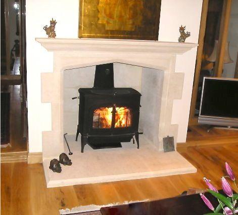 small scandinavian wood stove
