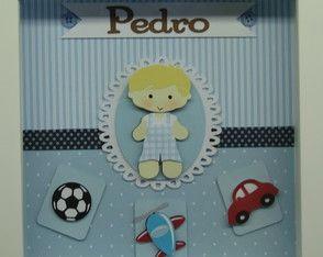 Porta Maternidade Menino brinquedos