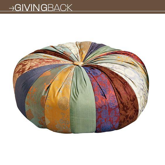 Mindful Yoga Pillow from Ten Thousand Villages | Organic Spa Magazine's 2013 Gift Guide: Yogini | #OrganicSpaMagazine
