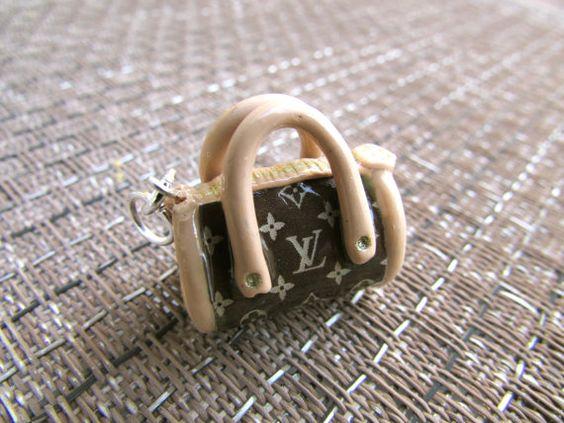 Polymer Clay Designer Style Miniature Handbag by TikysCreations, $11.99