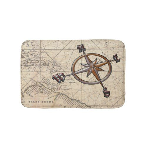 Nautical Compass Bathroom Mat Zazzle Com Nautical Compass Bathroom Mats Small Bath Mat