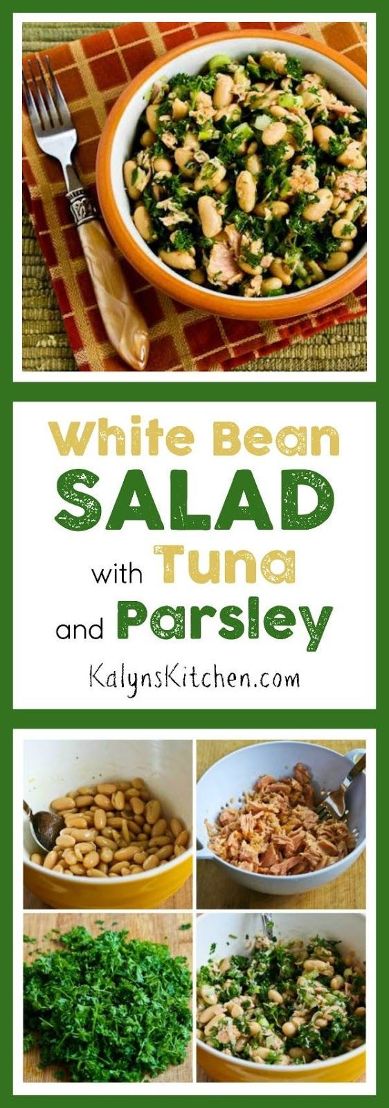 White Bean Salad with Tuna and Parsley | White Bean Salads, Bean ...