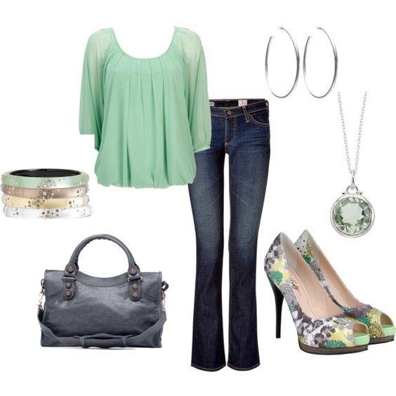 Light Green & Gray