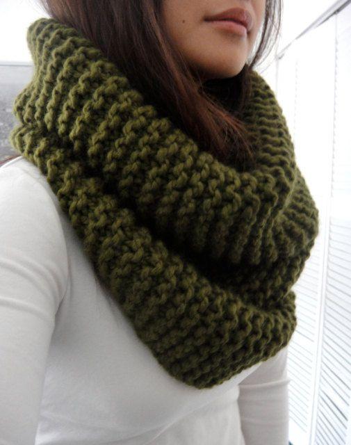 Espero Infinity costilla gruesa bufanda Cilantro verde por LuluLuvs