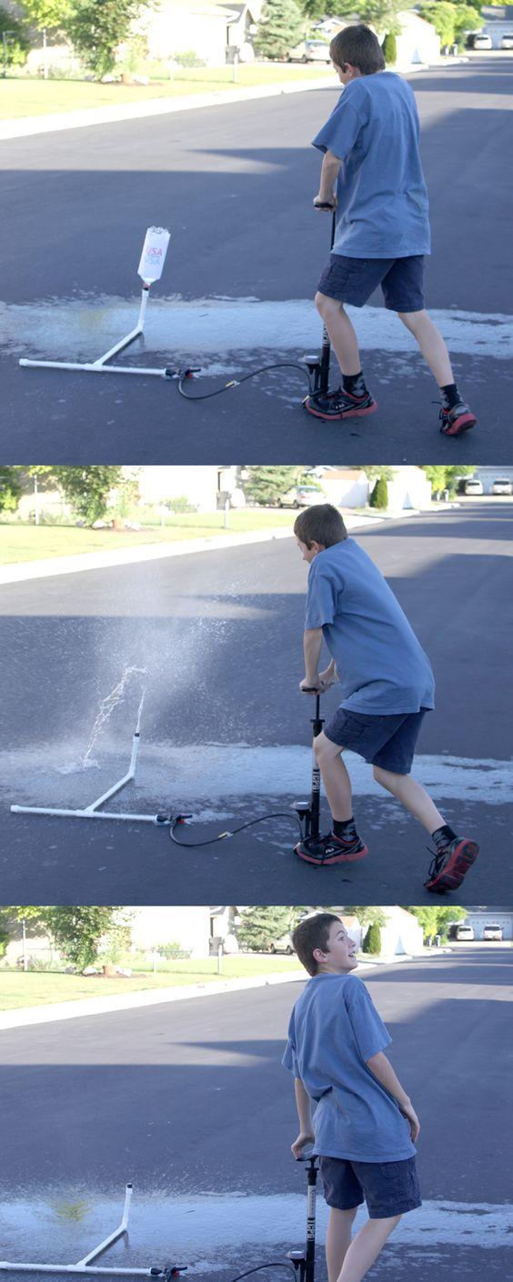 how to make a pvc bottle rocket launcher