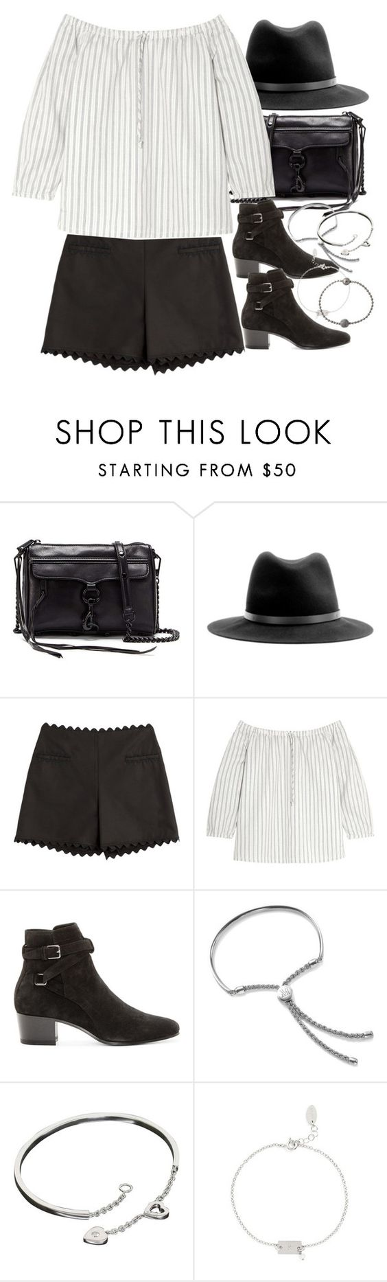 """Untitled #8985"" by nikka-phillips ❤ liked on Polyvore featuring Rebecca Minkoff, rag & bone, Moschino Cheap & Chic, Madewell, Yves Saint Laurent, Monica Vinader, Cartier, Nashelle and Shamballa Jewels"