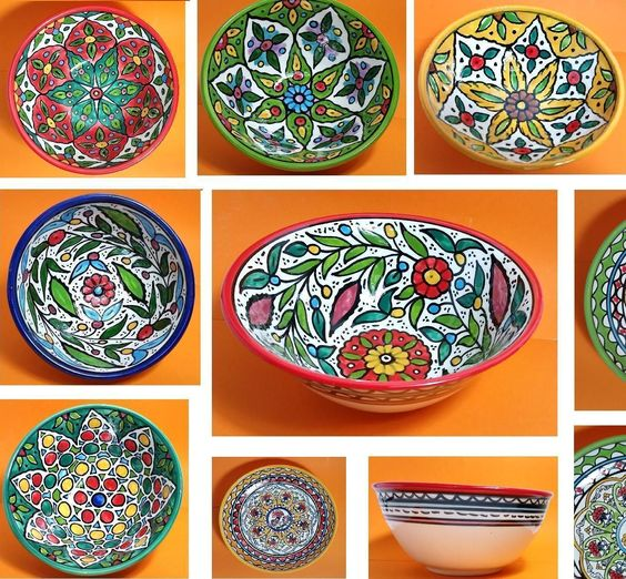 "Hand-Made 6"" To 10.5"" Ceramic Serving Bowl , For Salad , Fruit ,  Pasta"